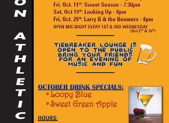 Tiebreaker Lounge October Entertainment