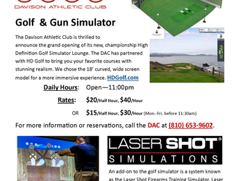 DAC's Golf & Gun Simulator