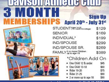 3 Month Summer Memberships are back!