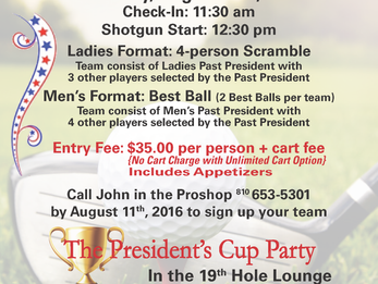 DCC Past Presidents Tournament This Weekend