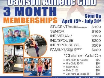DAC 3 Month Summer Memberships have begun!