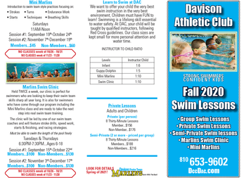 Fall Swim Lessons are Coming Soon!