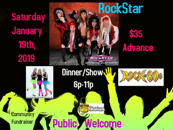 80's Big Hair Rockstar Dinner Show at DCC-Public Welcome!