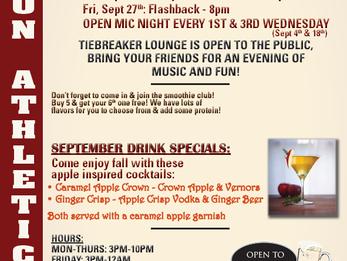 Tiebreaker Lounge News