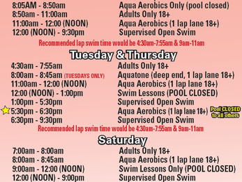 Pool Schedule July 23-29
