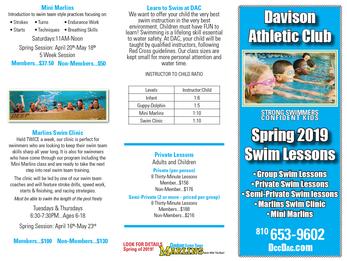 Spring Swim Lessons
