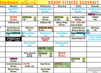 Group Fitness Update!
