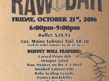 Friday Night Buffet - Raw Bar