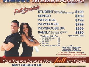 3 Month Fall Memberships