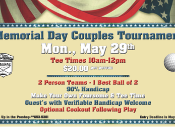 DCC Couples Memorial Day Golf Tournament