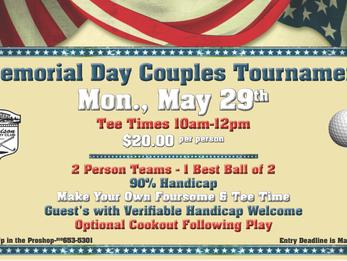 DCC Couples Memorial Day Golf Tournament