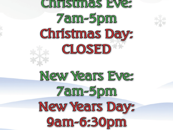 DAC Holiday Hours