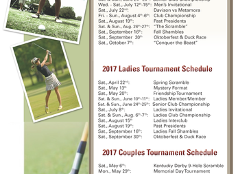 DCC's 2017 Golf Tournament Schedule