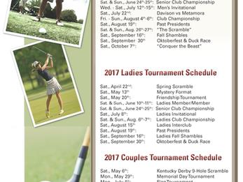 DCC's 2017 Golf Tournament Schedule
