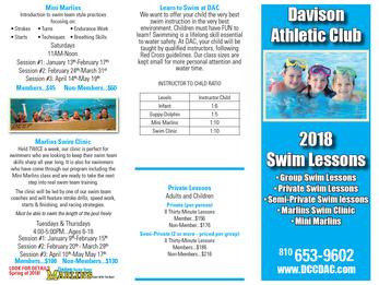 Swim Lesson Registration is around the Corner!