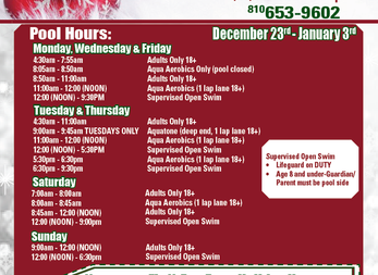DAC's Holiday Hours: