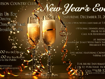 Tonight's the Night! NYE at the DCC!