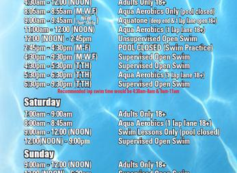 DAC Pool Schedule Change