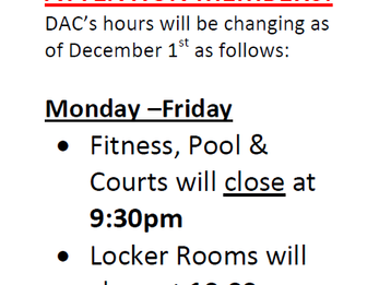 Change in DAC Hours: