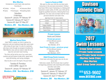 New 2017 Swim Lessons