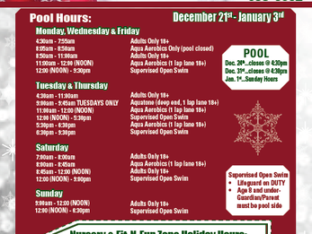 DAC Holiday Schedule