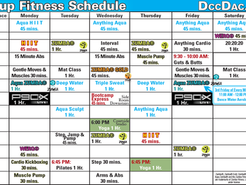 Group Fitness Schedule