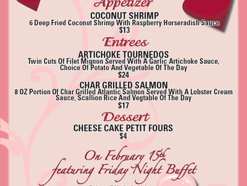 Valentines Dinner @ DCC