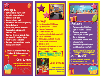 Book Your Child's Birthday Party with DAC!