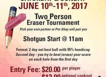 Member/Member Tournaments Coming Up!
