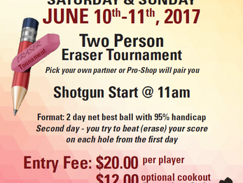 Member/Member Tournaments Coming Up!