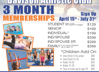 3 Month Summer Memberships