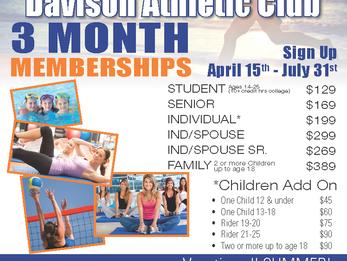 3 Month Summer Memberships