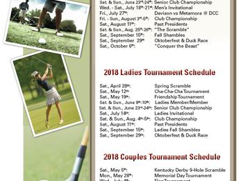DCC 2018 Tournament Schedule