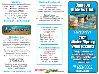 2021 Swim Lessons