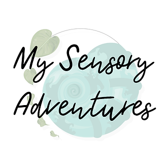 My Sensory Adventures Logo. Blue shell a