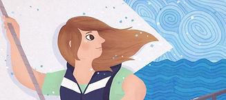 Sea Girl Poster. A young girl sailing on