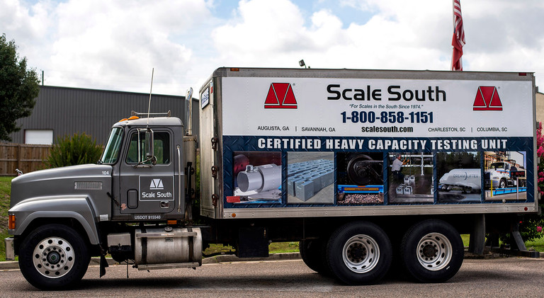 FOR SALE: 1994 MACK TRUCK HEAVY CAPACITY SCALE TEST UNIT – ENCLOSED BOX; *INCLUDES CART*