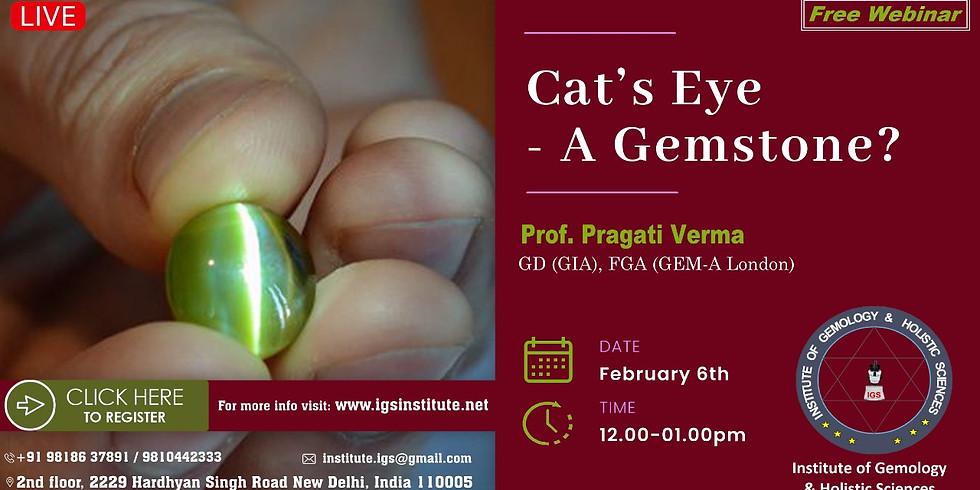 Cats Eye - A Free Seminar By Pragati Verma