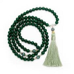 Green Jade  Beads Mala
