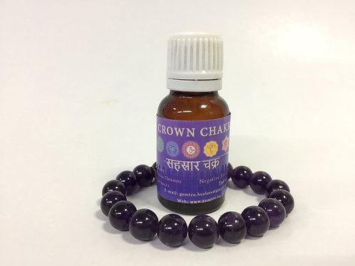 Crown chakra oil with Amethyst bracelet