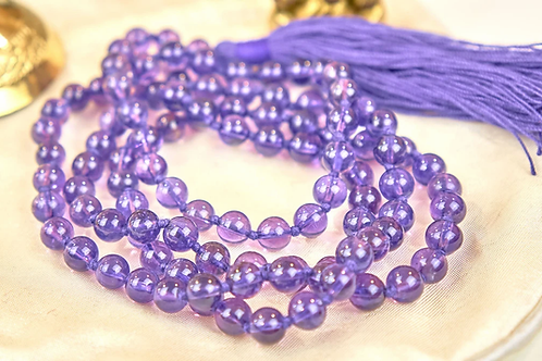 Amethyst Beads Mala