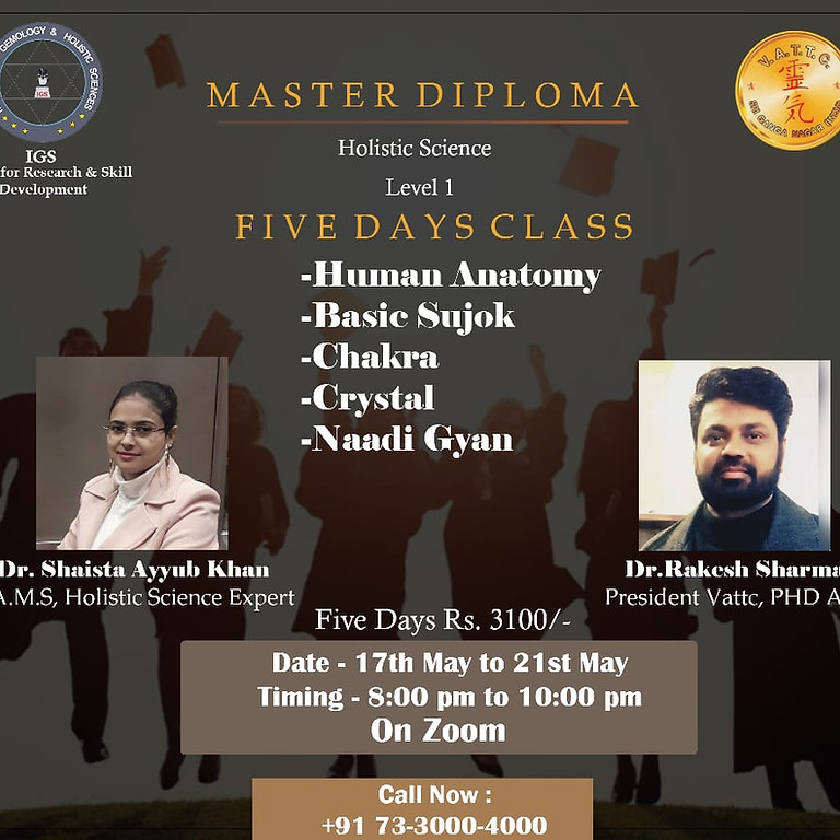 Master Diploma in Holistic Science(Level 1) by Dr Rakesh Sharma (1)