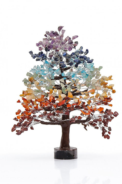 7 chakra Mix Crystal Tree in Large Size 700 Beads