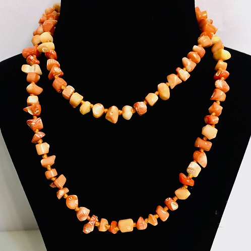 Coral Small Beads Mala