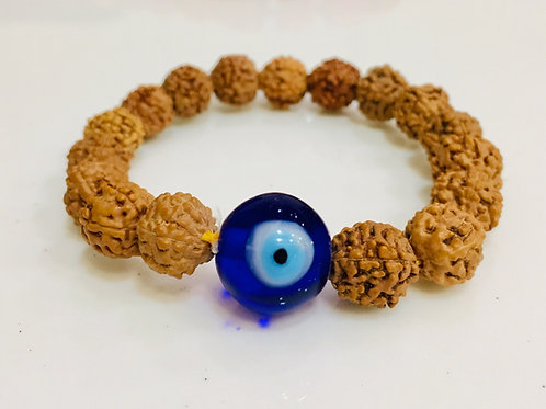 Evil Eye With Natural  Rudraksha Bracelet