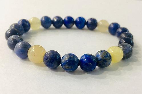 Lapiz Lazuli With Moon Stone Bracelet