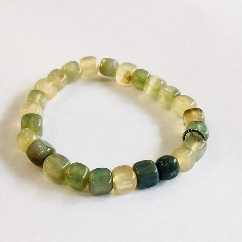 Green Onyx Square Bracelet