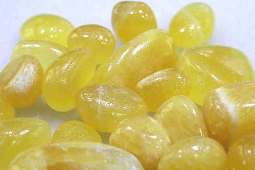 Yellow Calcite Tumbles