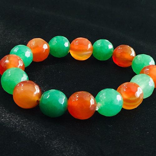 Green Aventurine & Carnelian Bracelet