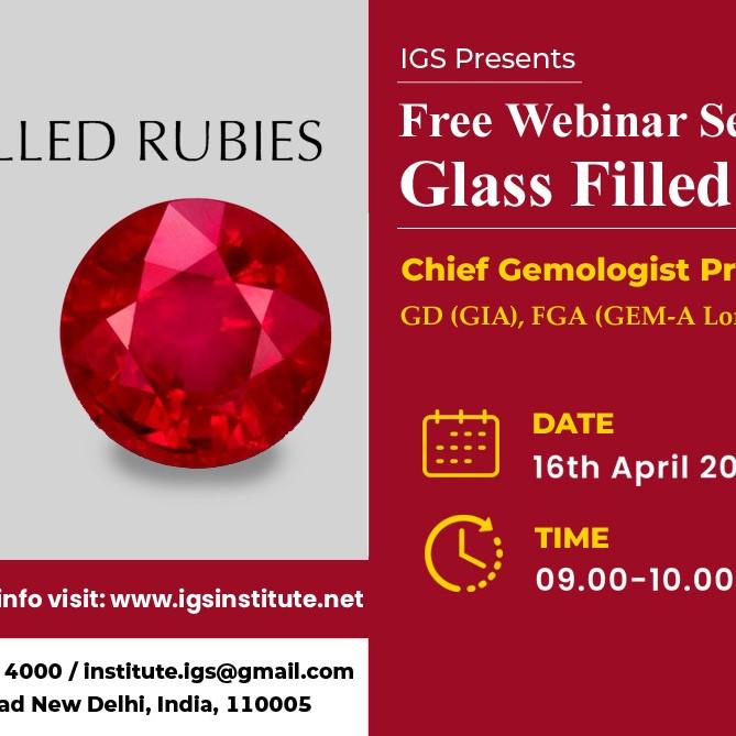 Free Webinar on Glass - Filled Rubies by Pragati Verma